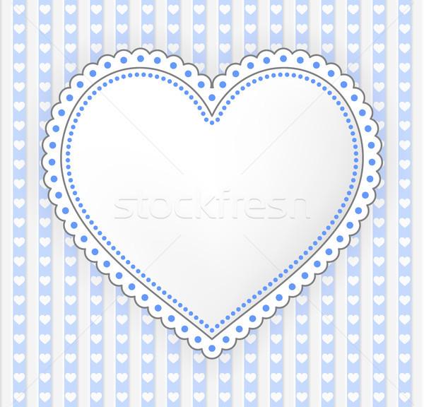 Odznaczony serca etykiety ilustracja projektu sztuki Zdjęcia stock © icefront