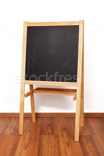 Houten Blackboard lege klas school frame Stockfoto © icefront