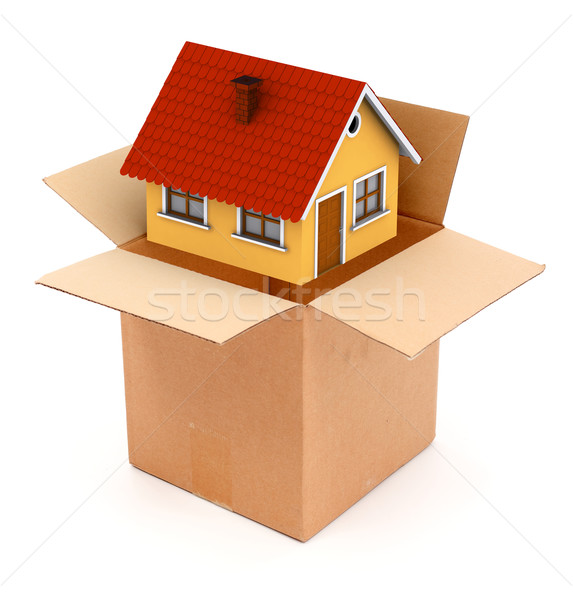 Packing or unpacking a house Stock photo © icefront