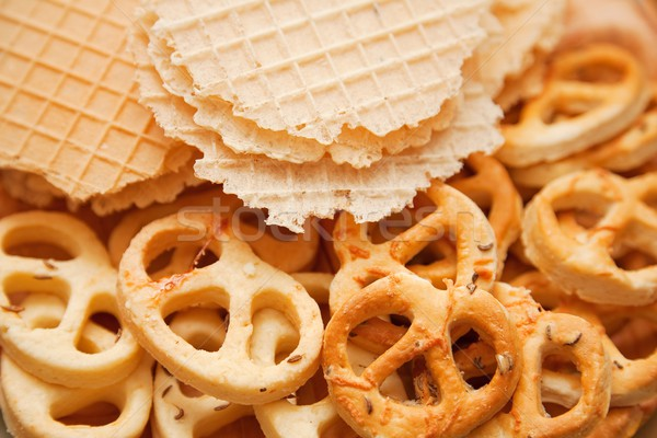 Salted dry cookies Stock photo © icefront