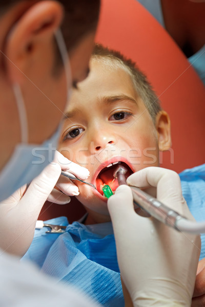 Little boy at dentist Stock photo © icefront
