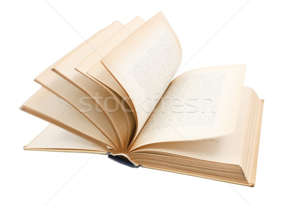 Turning pages of old book Stock photo © icefront