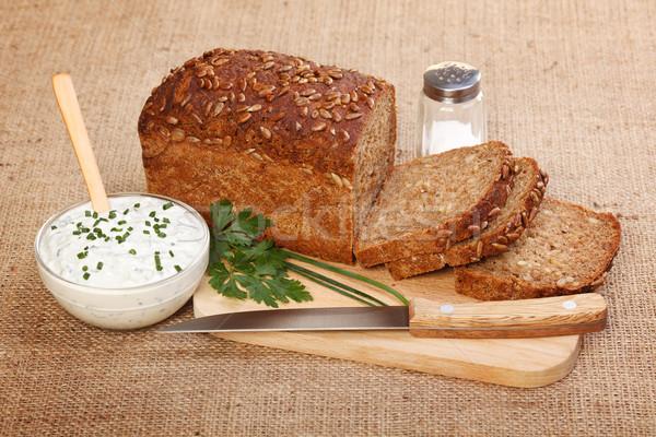 ブラウン パン 辛い サワークリーム 種子 ストックフォト © icefront