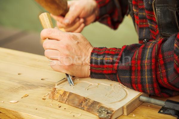 древесины популярный искусства работник человека украшение Сток-фото © icefront
