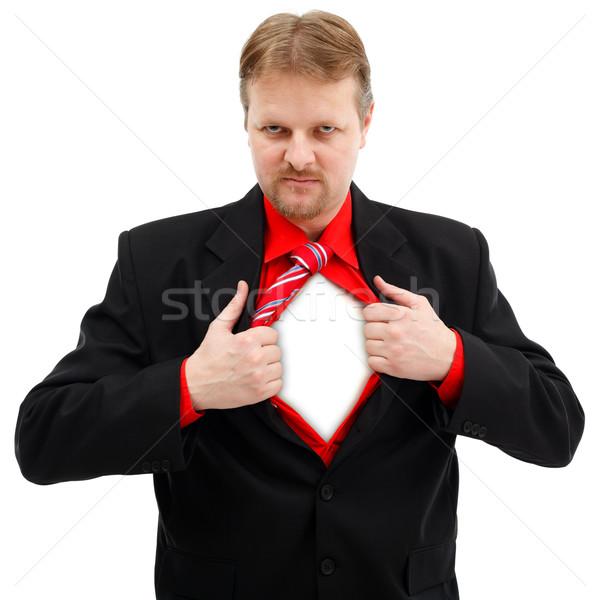 Férfi szuper nyitás póló maszk csatolva Stock fotó © icefront