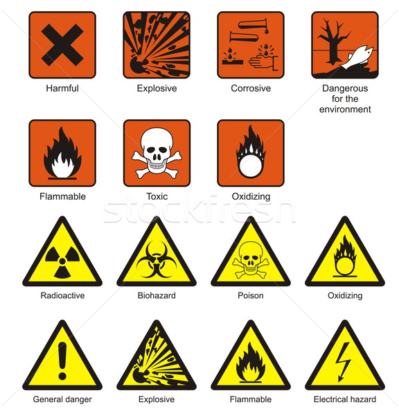 Science Laboratory Safety Signs Stock photo © icefront