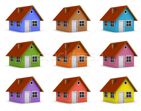 Colorful houses Stock photo © icefront