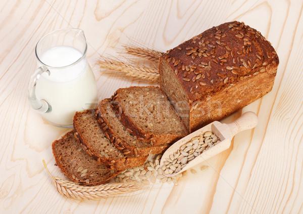 Brun pain semences lait Photo stock © icefront