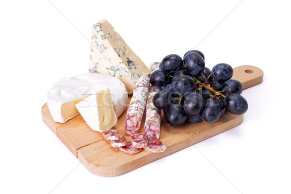 Queso azul camembert secar salchicha de uva Foto stock © icefront