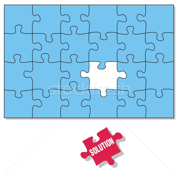 Puzzle pieces Stock photo © icefront