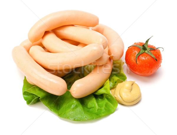 Chicken Frankfurter on white Stock photo © icefront
