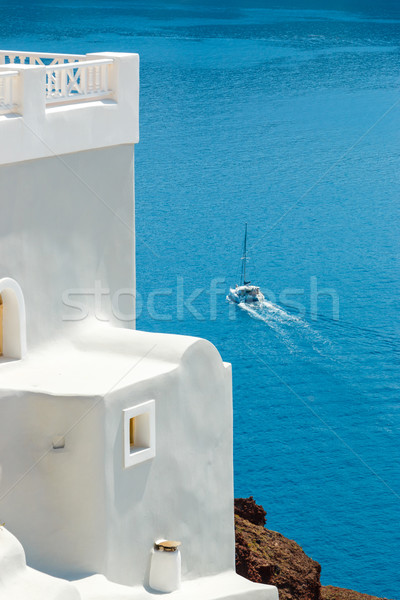 Specific Greek building and sea abstract, Santorini Stock photo © icefront