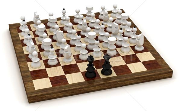 Symbolic chess revolution Stock photo © icefront