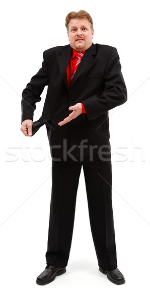 Poor man showing empty pocket Stock photo © icefront