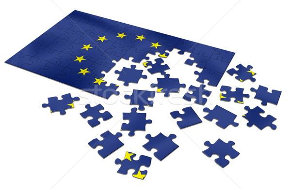 EU puzzle Stock photo © icefront
