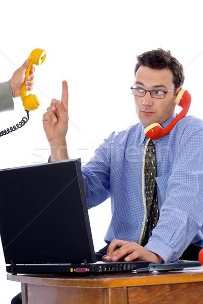 Stok fotoğraf: Konuşma · telefon · işadamı · telefon · erkekler · iletişim