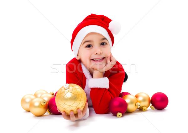 Foto stock: Pequeño · Navidad · nino · ornamento