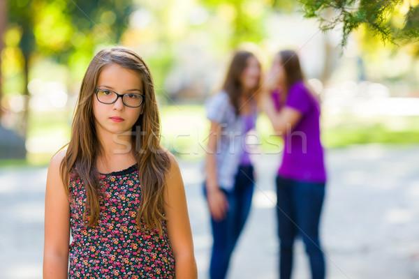 üzücü kız kötü ayakta arkadaşlar Stok fotoğraf © icefront
