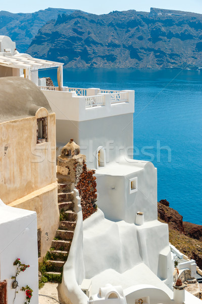 Old and new house in Oia, Santorini Stock photo © icefront