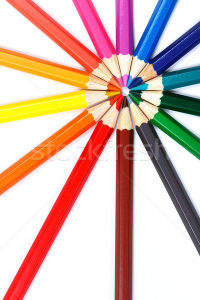 Colorful pencils in radial arrangement Stock photo © icefront