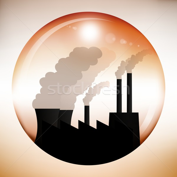 Chemical factory inside red sphere Stock photo © icefront