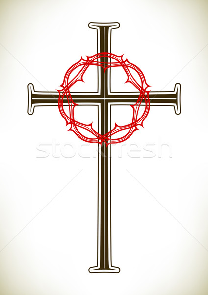 Christian cross and wreath Stock photo © icefront