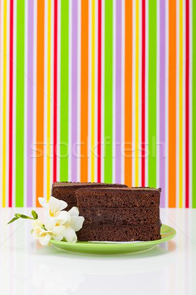 Cioccolato strato torta colorato strisce fiore Foto d'archivio © icefront