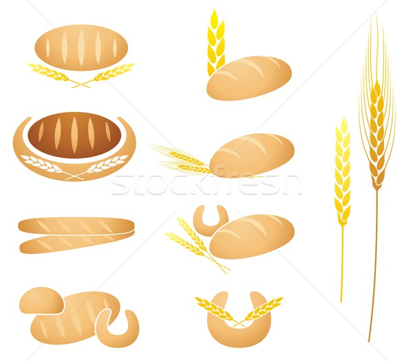 Bread, baguette, corn and wheat Stock photo © icefront