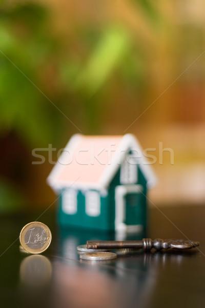 Cosas manera casa clave éxito dinero Foto stock © icefront