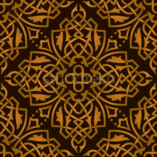 Seamless abstract decoration pattern Stock photo © icefront