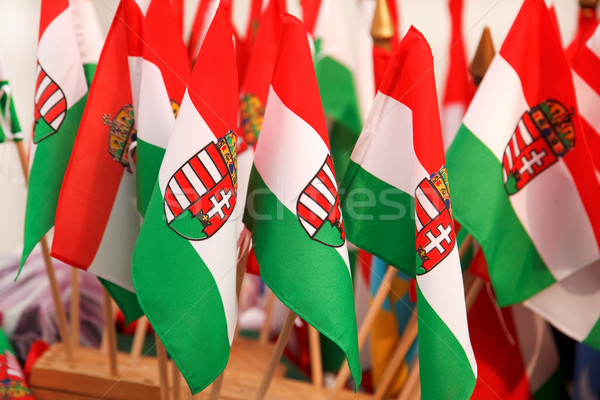 Hungarian flags Stock photo © icefront