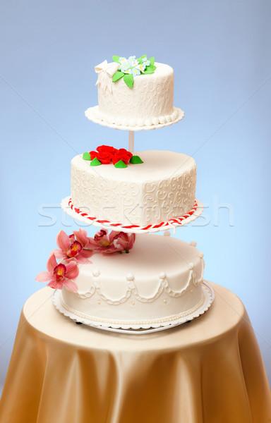 Esküvő torták modellek különböző virág étel Stock fotó © icefront