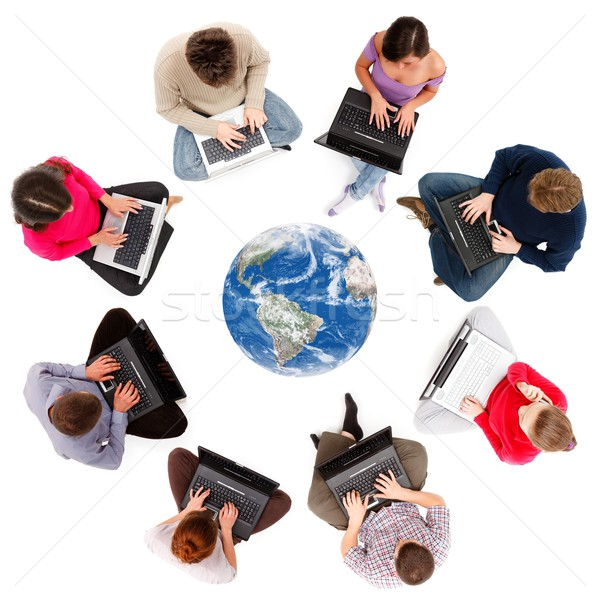 Social network members seen from above Stock photo © icefront