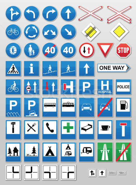 Traffic signs: Information Stock photo © icefront