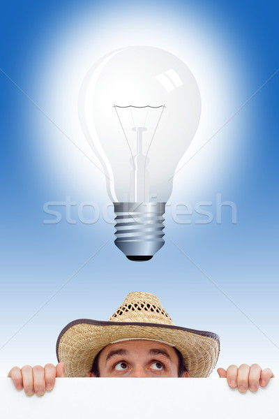Stock photo: Man having an idea