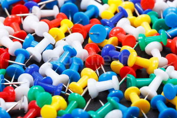 Colorful push pins  Stock photo © icefront