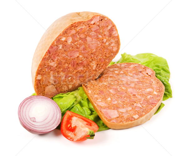 Filled meat speciality and slice Stock photo © icefront