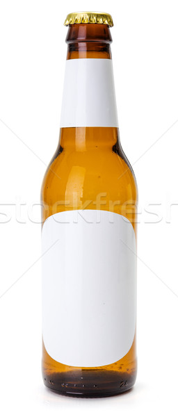Brown beer bottle with white blank labels Stock photo © icefront