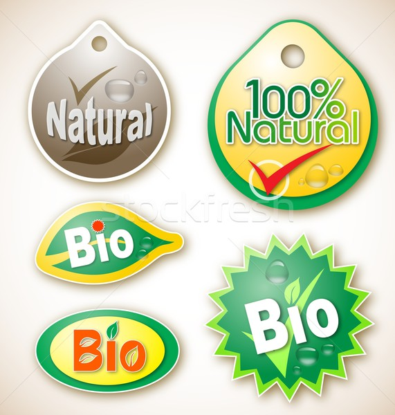 Naturelles bio produit étiquettes illustration Photo stock © icefront