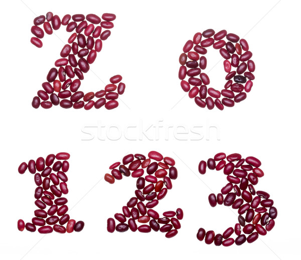 Numbers made of red kidney beans Stock photo © icefront