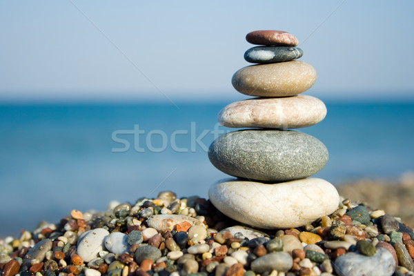 Stacked pebbles Stock photo © icefront