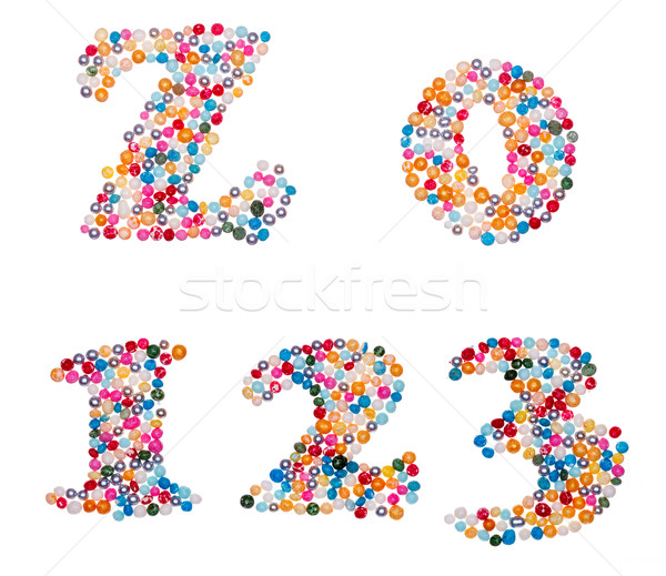 Numbers made of colorful sprinkles Stock photo © icefront