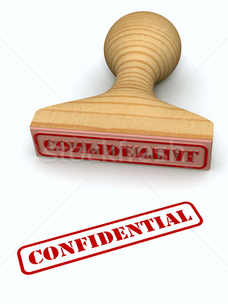 Confidential stamp Stock photo © icefront