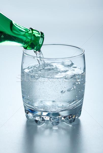 água mineral vidro verde garrafa água Foto stock © icefront