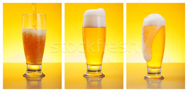 Pouring Beer Stock photo © icefront