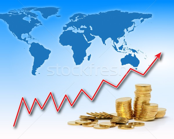 Rising gold value in the world Stock photo © icefront