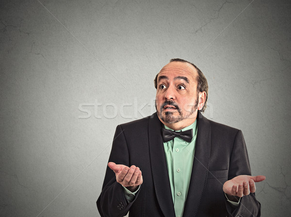 dumb clueless middle age man Stock photo © ichiosea