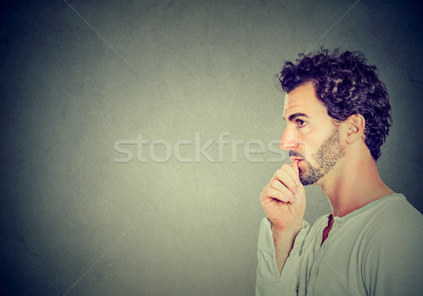 Worried man sucking his thumb  Stock photo © ichiosea
