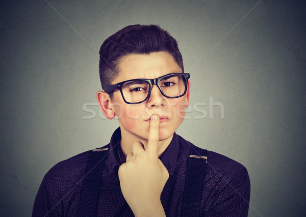 man being doubtful thoughtful about something Stock photo © ichiosea