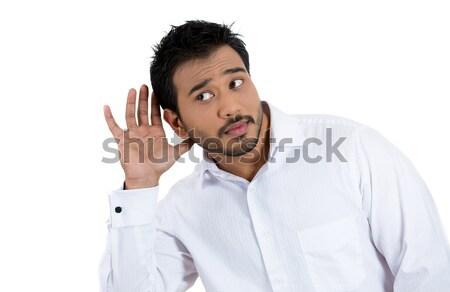 Man portret gek werknemer werknemer Stockfoto © ichiosea